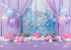 Dreamy purple backdrop cake smash background winter-cheap vinyl backdrop fabric background photography