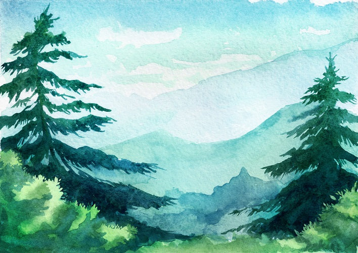 shop watercolor painting background forest photo backdrop whosedrop photo backdrop photography backdrops vinyl photography backdrops alternative backdrops
