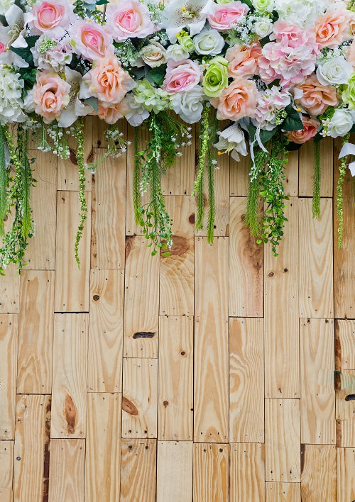 Wooden Backdrop For Photography Flowers Background For