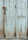 Vintage backdrops light blue door background