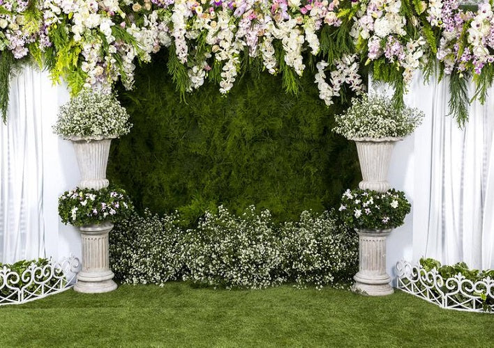 1PC Wedding Photo Backdrop Cloth Flower Wall Photographic Background Cloth Photo Studio Background Props Professional Party Photographic Background Cloth for Wedding Proposal Valentine Day