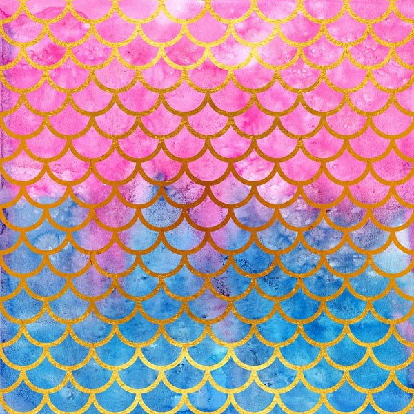 Shop Mermaid Scales Backdrops Summer Pattern Background