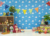 Andy's room backdrop toy story background for child-cheap vinyl backdrop fabric background photography