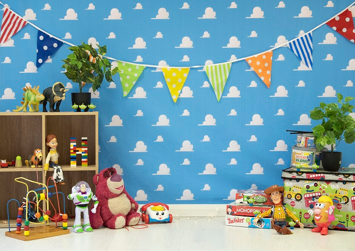 Shop Andy S Room Backdrop Toy Story Background For Child Whosedrop