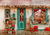 Christmas photography background gift shop backdrops