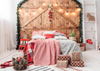 Christmas backdrop for family photography Christmas headboard-cheap vinyl backdrop fabric background photography