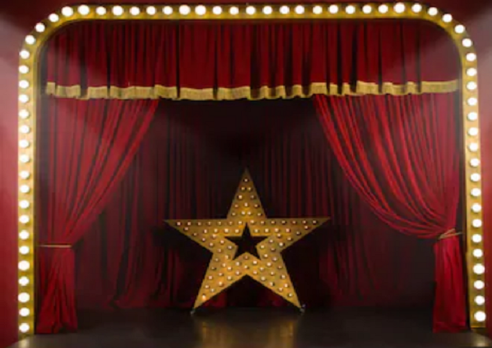 Shop Red stage backdrops with stars and small lights
