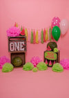 1st birthday backdrops summer watermelon background with balloon-cheap vinyl backdrop fabric background photography