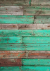 Green retro wood planks backdrop floordrop