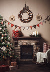 Living room backdrop Christmas photo background-cheap vinyl backdrop fabric background photography