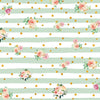 Stripe flower pattern backdrop with golden dots-cheap vinyl backdrop fabric background photography