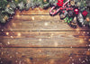 Bokeh wood backdrop Christmas photo background-cheap vinyl backdrop fabric background photography