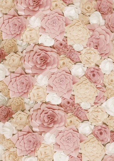 Pink flowers backdrop baby shower photo-cheap vinyl backdrop fabric background photography