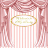 Pink stripe backdrop party photography background-cheap vinyl backdrop fabric background photography