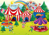 Circus photography backdrop children background-cheap vinyl backdrop fabric background photography