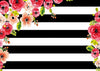 Birthday backdrop black and white striped-cheap vinyl backdrop fabric background photography