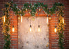Red brick wall backdrop Christmas background