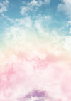 Children/Newborn photography backdrop colorful clouds-cheap vinyl backdrop fabric background photography