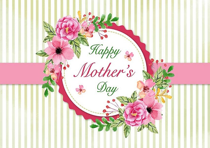Mother/'s Day Poster,Mother/'s Day Backdrop,Flowers Backdrop,Golden Dots Backdrop,Stripes Backdrop,Backkdrop Designs-chy340