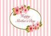 Pink stripe backdrop Mother's Day background