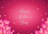 Pink love background Mother's Day backdrops