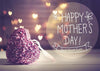 Happy Mother's Day backdrops purple heart-shaped