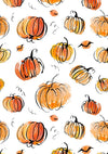 Pumpkin and bat pattern halloween backdrop