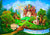 Forest castle backdrop Disney background for child