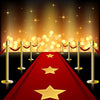 Stage photography backdrop with red carpet-cheap vinyl backdrop fabric background photography