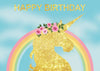 Gold unicorn for baby girl birthday party backdrop-cheap vinyl backdrop fabric background photography