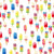 Summer backdrop colorful popsicles pattern background