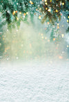 Winter snowing backdrop white bokeh background-cheap vinyl backdrop fabric background photography