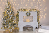 Christmas fireplace photography Backdrop with Christmas tree-cheap vinyl backdrop fabric background photography