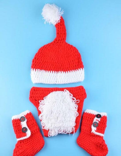 New Baby clothing Christmas Photography Props baby photo knit props - whosedrop