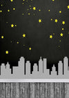 Children superman backdrops with yellow stars-cheap vinyl backdrop fabric background photography