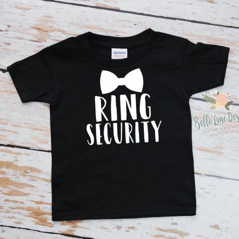 Ring Security with Bow Tie, Boy Ring Bearer Shirt Toddler 300