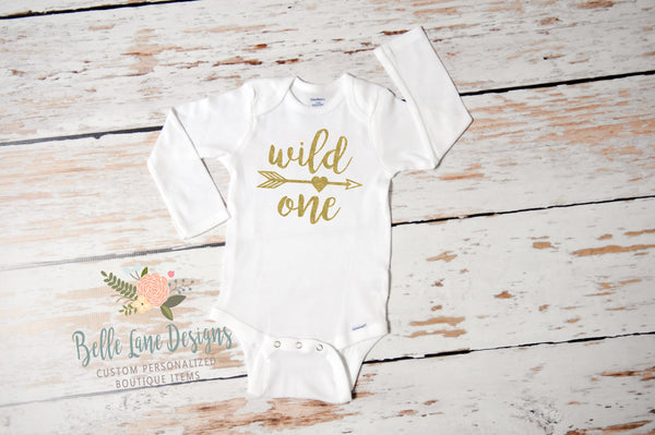 Wild One Onesie, First Birthday Girl 347