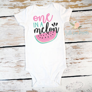 e15f366e7 One In A Melon Birthday, 1st Birthday Watermelon Onesie®, First Birthday  Girl Outfit