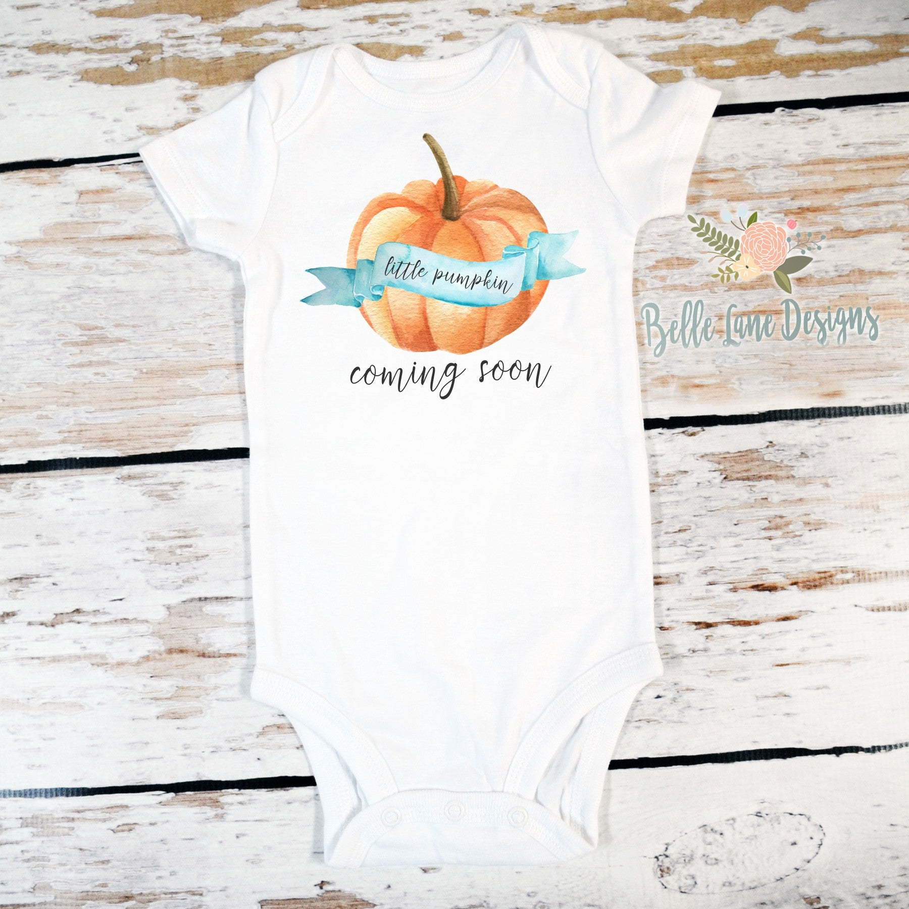 Little Pumpkin Coming Soon Boy Onesie, Fall Baby Shower Gift, Pregnancy Announcement, Baby Clothes 545