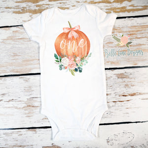"Pumpkin Floral ""One""