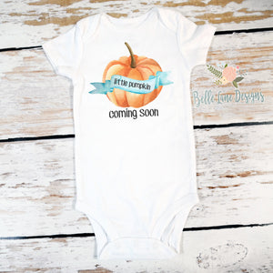 "Little Pumpkin ""Coming Soon"" 