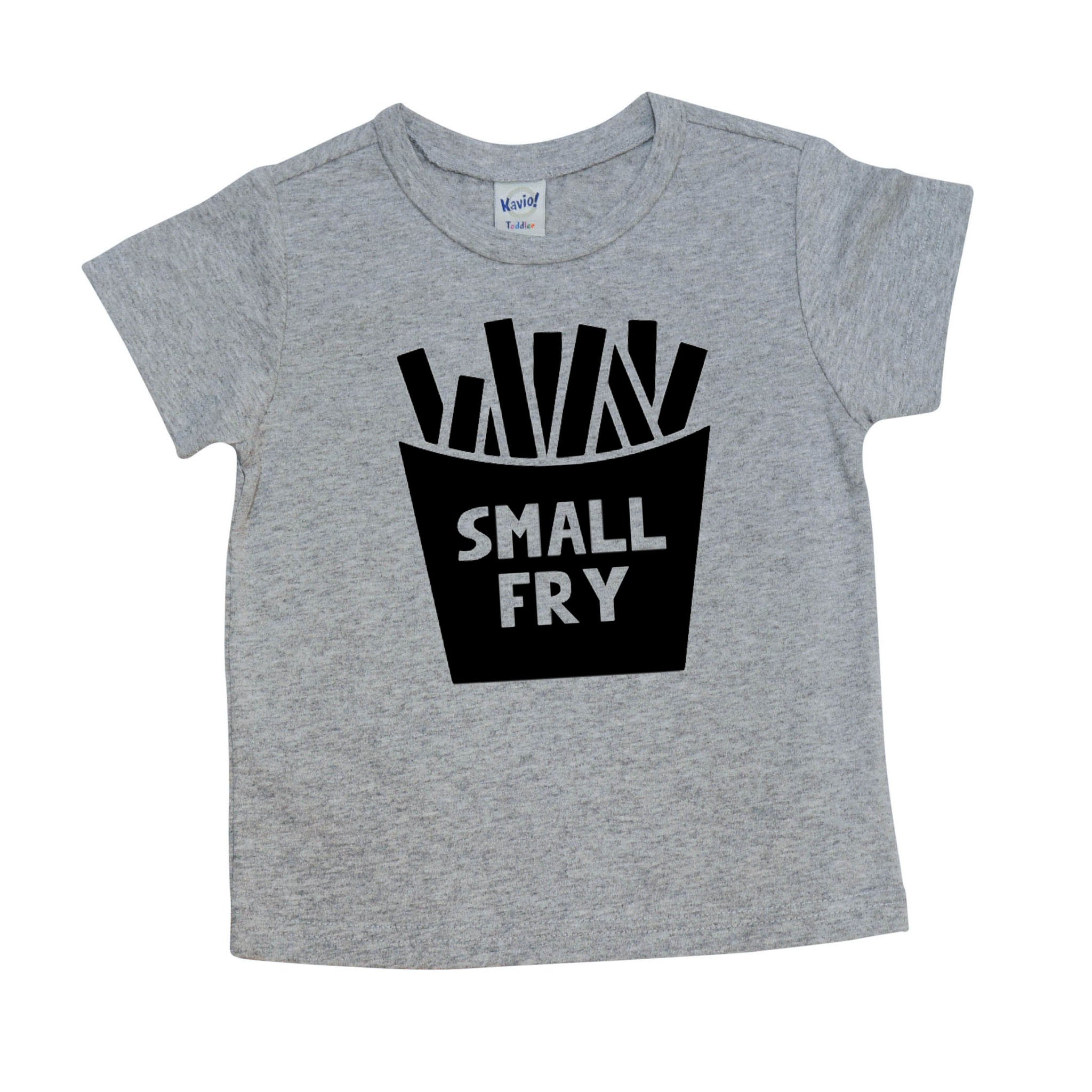 Small Fry | Grey Short or Long Sleeve Shirt or Onesie | Girls, Boys, Siblings, Pregnancy Announcement | 553