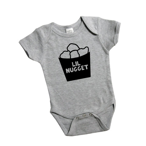 Lil Nugget Bodysuit or Shirt, Pregnancy Announcement, Sibling Shirt Girl or Boy 554