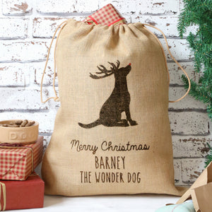 Personalised Christmas Dog Sack