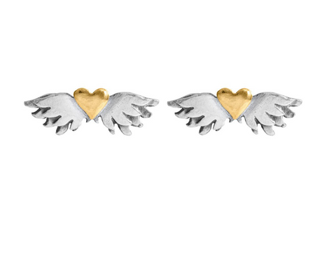 Winged Heart sud earrings