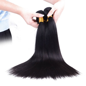 Straight peruvian virgin  hair 9A