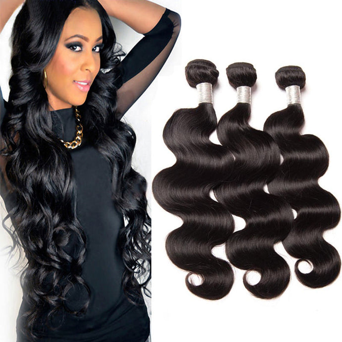 Glossy 3 Bundles/150g 100% Brazilian Human Virgin Hair Body Weave