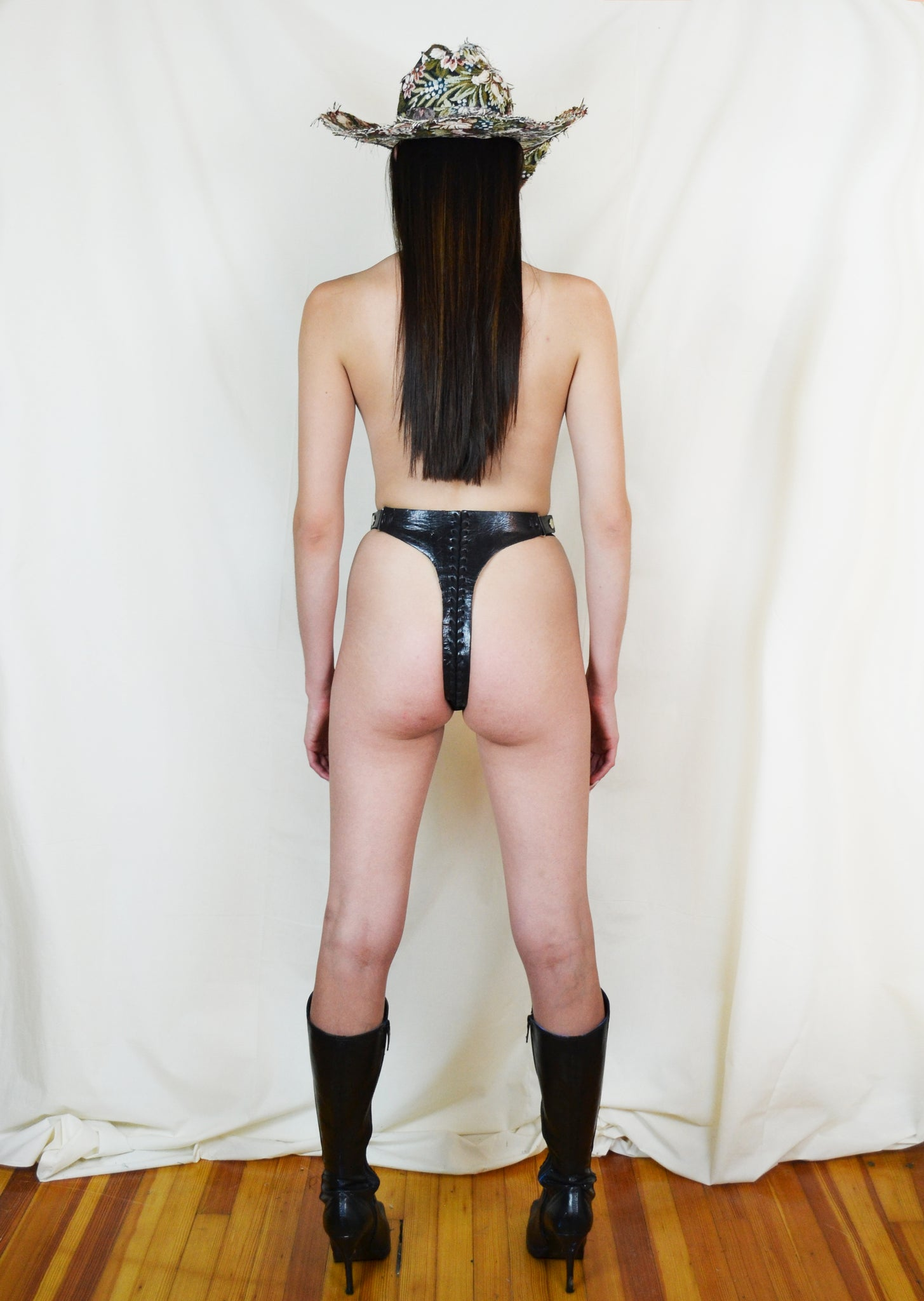 Leather Cowboy Boot Thong