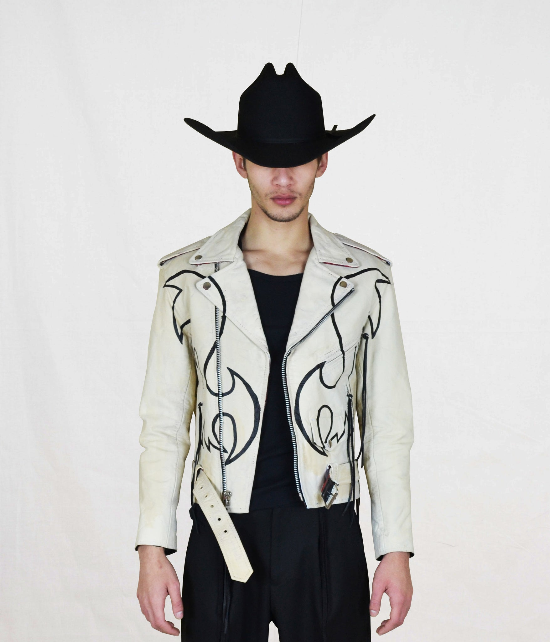 Rodeo Drive Painted Moto Jacket