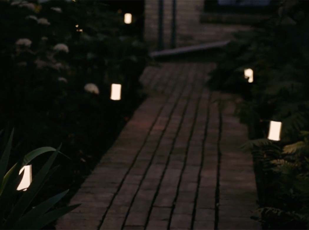 How do you light up a pathway?